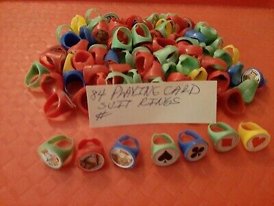 Vintage Gumball/Vending/Dime Store Playing Card Suit Rings Lot Of 84