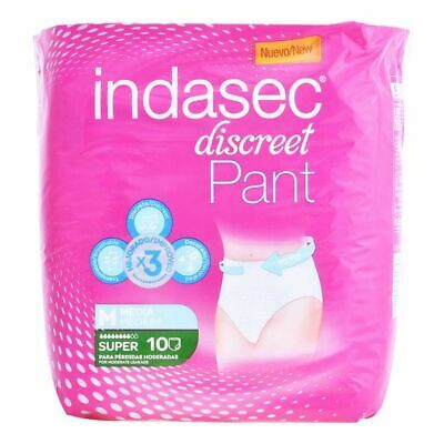 Couches pour Incontinence Pant Super Talla Mediana Indasec (10 uds)