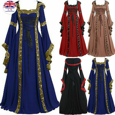 womens medieval maxi dress vintage Victorian Palace Priests prom dresses costume