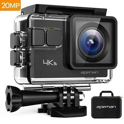 APEMAN Action Camera 4K 20MP Wifi for Sports 170° Adjustable Lens Underwater