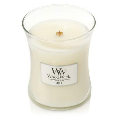 WoodWick Medium Hourglass Scented Candle with Crackling Wick, Medium, Linen