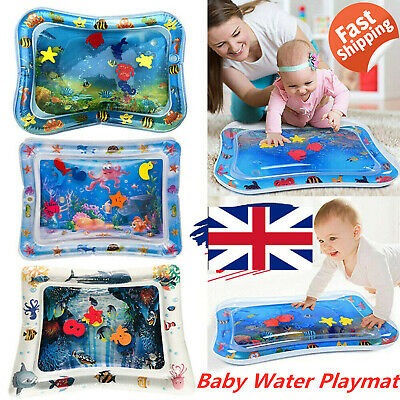 Inflatable Water Mat For Baby Infant Toddler Mattress Splash Playmat Tummy Time@