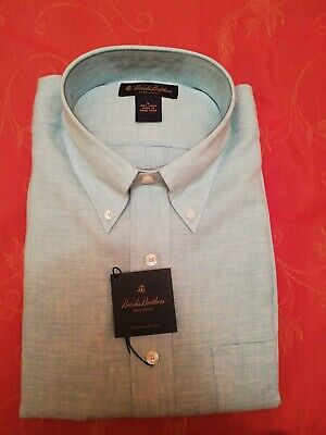 x4 Man new suit's shirts, Brooks Brothers, size L,  colors white / light blue