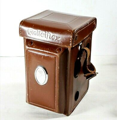 Rolleiflex Twin Lens Reflex (TLR) Brown Leather Case With Rear Window