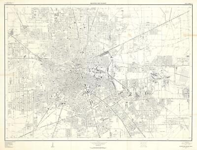 1957 U.S. Geological Survey City Map or Plan of Houston, Texas
