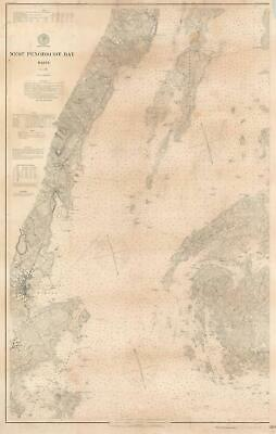 1902 U.S. Coast and Geodetic Survey Nautical Chart of West Penobscot Bay, Maine