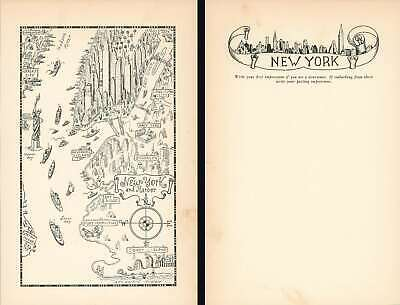 1933 Mora Pictorial Map of New York City