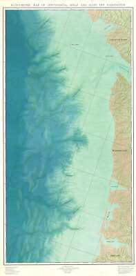 1969 McGary Map of the Underwater Topography of Washington State