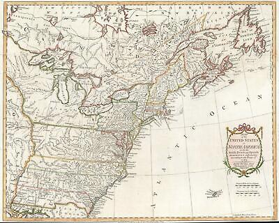 1783 Kitchin Map of the United States
