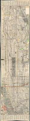 1939 Geographia City Map or Plan of Manhattan, New York City