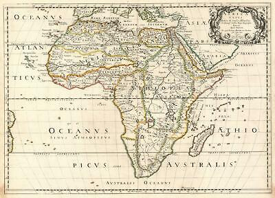 1650 Sanson Map of Ancient Africa