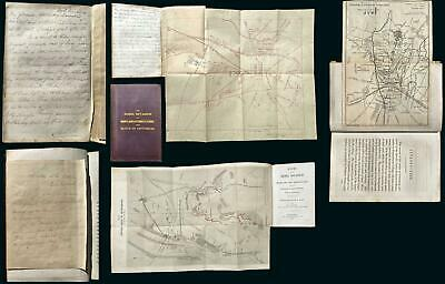 1863 Book and Map of the Battle of Gettysburg, Manuscript Notes and Map!
