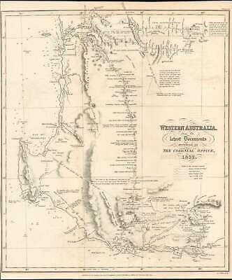 1832 Royal Geographical Society Map of Western Australia