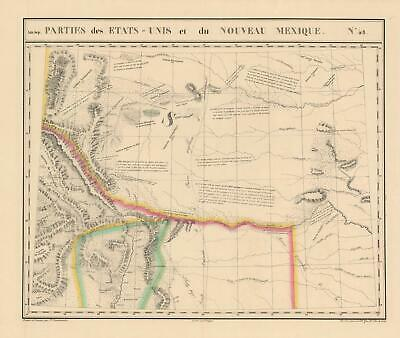 1827 Map of New Mexico and the Colorado Territory
