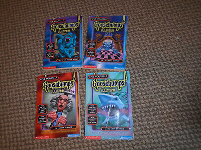 4 GOOSEBUMPS - RL Stine *Special Edition Give Yourself-32-33-34-36 acceptable