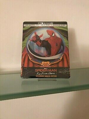 Spider-Man Far From Home Special Edition Steelbook  Blu Ray 4K+Blu Ray