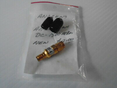 Andrews 4dB Attenuator SMSF-4 DC-1500 Mhz SMA Connectors NOS