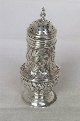 A Rare George Ii Solid Sterling Silver Pepper / Pepperette By Samuel Wood 1735.
