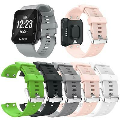 Silicone Wrist Strap Bracelet Watch Band with Buckle for Garmin Forerunner 35