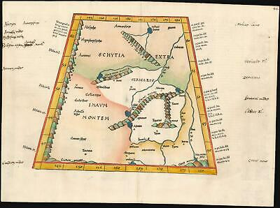1535 Ptolemaic Map of Central Asia North of the Himalayas