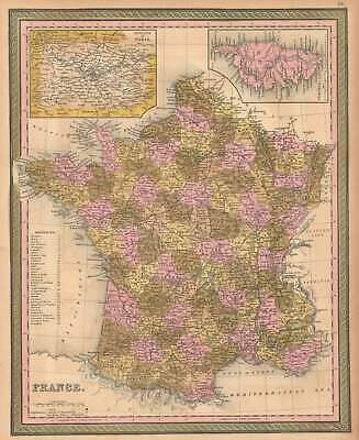 1849 Mitchell Map Of Francia