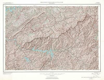1968 U.S. Geological Survey Map of Great Smoky Mountains National Park