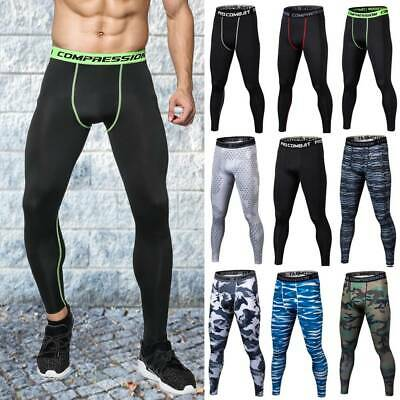 Men's Compression Thermal Base Layer Pants Leggings Long Sports Gym Quick Dry A