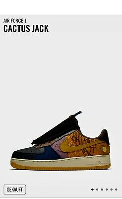 "NIKE AIR FORCE 1 ""Cactus Jack"" Travis Scott Gr.US 7 Eur Gr"