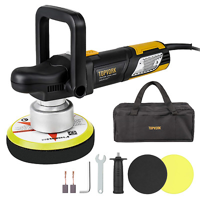 "Polisher, Car Polishers TOPVORK 6"" Dual-Action Car Buffer/Waxer, 2000-6400OPM, &"