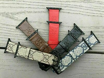 Luxury Leather Strap iWatch Band For Apple Watch Series 5/4/3/2/1 38/40 42/44MM