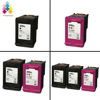 Lot Black & Tri-Colour PP Ink Cartridges for use with HP 300XL Printers