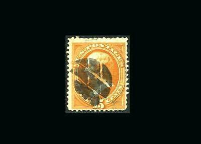 US Stamp Used, VG S#141sound stamp with a few short perfs at toplight crease