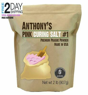 Anthony's Pink Curing Salt No.1, 2lbs, Quick Cure Prague Powder