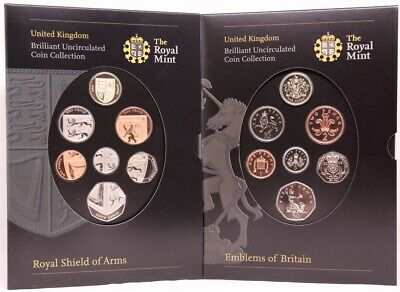 United Kingdom 2008 Uncirculated Mint Coin Sets (14 coins) Emblems of Britain /