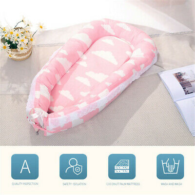 Baby Cocoon Infant Sleep Nest Reversible Coushion Bed With Soft Insert AU STOCK