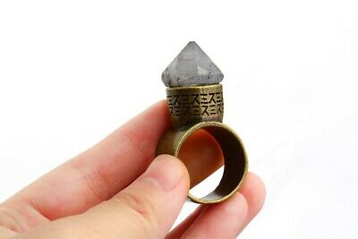 Men's Ancient Ring Movie Fans Star Wars Snoke's Ring With Natural Stone Obsidian