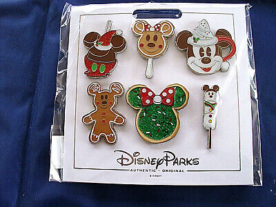 Disney * HOLIDAY TREATS / CHRISTMAS * New in Pack 6 Pin Character Booster Set