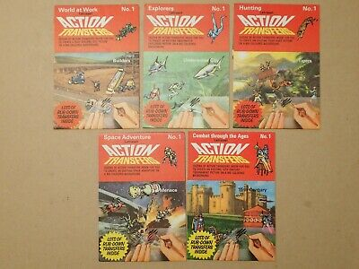 Vintage Letraset Action Transfers x 5 used     (P212)