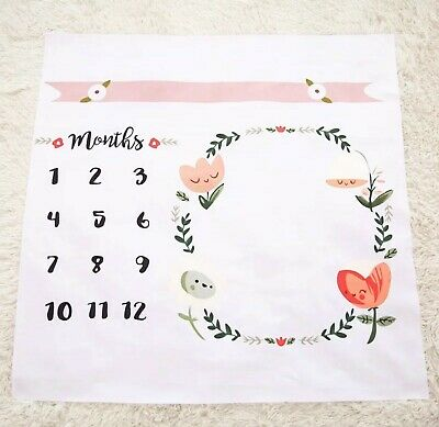 12 Month Milestone Baby Photo Prop Mat