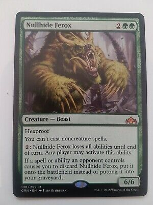 NULLHIDE FEROX NM mtg Guilds of Ravnica Red Beast Mythic