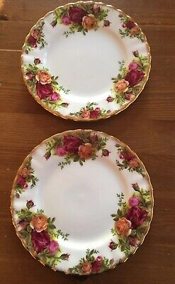 """Royal Albert Old Country Roses Set Of 2 X 6.25"""" Side Tea Plates (2Nds)"""