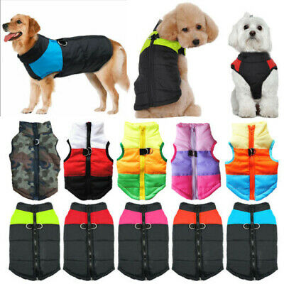 Pet Dog Vest Jacket Waterproof Clothes Small/Large Winter Padded Coat Outdoor