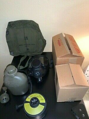 Israeli / Gas Mask Kit / Including Gas Mask/ NBC Filter / Drinking Tube Device /
