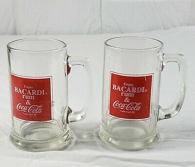 Vintage Bacardi Coca Cola Mug Lot of 2