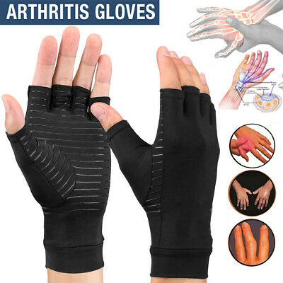 Arthritis Gloves Compression Joint Finger Pain Relief Hand Wrist Support Brace S