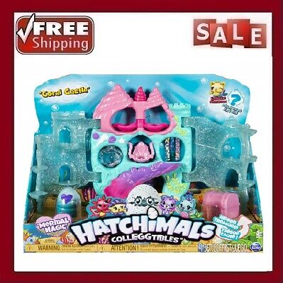 Hatchimals Colleggtibles, Coral Castle Fold Open Playset Exclusive Mermal Magic