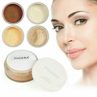 Phoera Translucent Loose Setting Face Powder Make Up Foundation Smooth Full Size