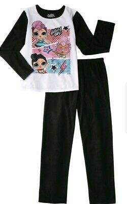 New Lol Surprise! Dolls L.o.l.star Sleepwear Flannel Pajamas Girls Size 7- 8