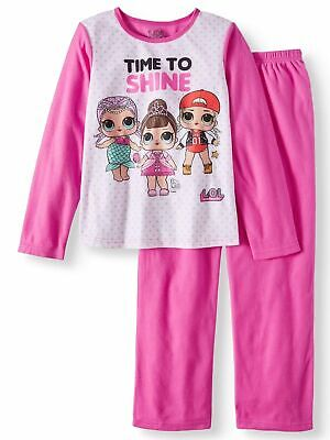 New Lol Surprise! Dolls L.o.l. Sleepwear Flannel Pajamas Girls Size 4 5  Nwt