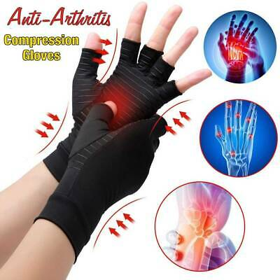 Compression Copper Arthritis Gloves Carpal Tunnel Hand Brace Joints Pain Relief